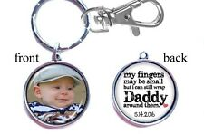 Personalized Photo Keychain Double-Sided (2 sides) Gifts for Dad Father's Day