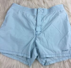 J Crew Size 2 Light Blue Shorts Fabric hook and loop fastener Womens Ladies
