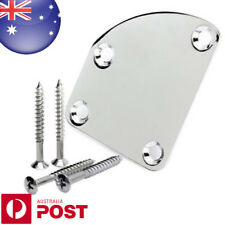 Asymmetric Chrome Plated Neck Joint Back Plate & Screws for Electric Guitar