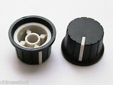 24pcs Plastic Knobs VOLUME TONE CONTROL KNOB 15mmX24mm Black&White