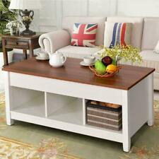 Lift Top Coffee Table Home Furniture w/Hidden Storage Compartment & Shelf White