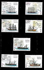 "sailing ships  Laos  featuring ships and covers CTO  ""Capex 87""  full set"