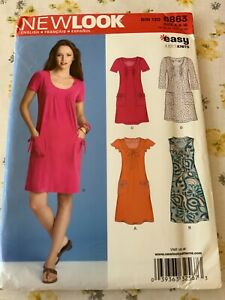 NEW LOOK 6863, Ladies Sewing Dress Pattern Size A 6-16 UNCUT