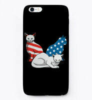 Patriotic 4th Of July Cat Lover Gift Phone Case iPhone