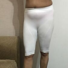 Ribbed Cycling Shorts Gym Short Yoga Hot Pants White Knee Active wear Stretch