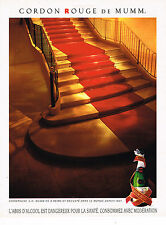 PUBLICITE ADVERTISING 025  1992  MUMM  champagne CORDON ROUGE
