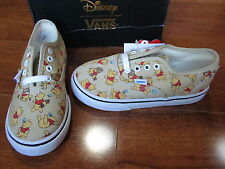 NEW VANS Authentic SKATE SHOES TODDLER SIZE 10 DISNEY WINNIE THE POOH