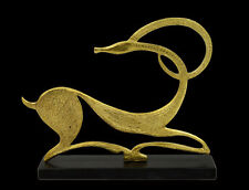 Ibex figurine sculpture artifact Ancient Greek Bronze sculpture