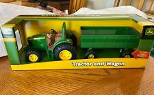 John Deere Diecast Tractor and Wagon by Tomy Toys NIB