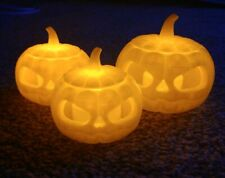 Halloween Pumpkins With Tealights x3 Small Medium Large 3d Print Jack O Lantern
