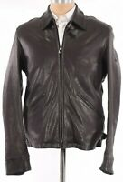 Belstaff NWT Cooper Jacket Size 38US In Solid Black Leather $1,095