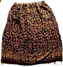 Sag Harbor Skirt Size Large Brown Tan And Black A-Line Elastic Waistband Pockets