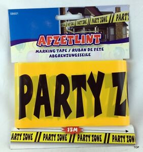 Butterfly Band Party-Zone Party Decoration Yellow-Black 15m