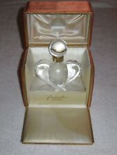 Vintage Nina Ricci Farouche Lalique Crystal Perfume Bottle/Box 1 OZ - Empty
