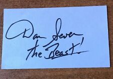 Dan Severn Signed Autographed  INDEX CARD MMA UFC JSA COA THE BEAST