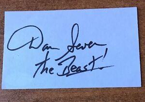 Dan Severn Signed Autographed  INDEX CARD MMA UFC JSA COA THE BEAST