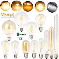 Vintage Retro LED Edison Filament Light Bulb E27 4W 6W 8W 12W 16W 110V 220V Lamp