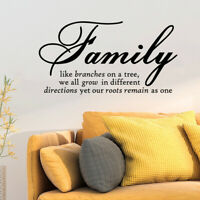 Family Home Room Decor Art Quote Wall Decal Stickers Bedroom Removable Mural DIY