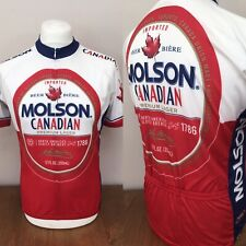 Primal Molson Canadian Lager Short Sleeve Cycling Jersey Large