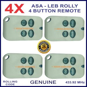 Automatic Solutions Australia Leb Rolly gate remote control -4 blue buttons X 4