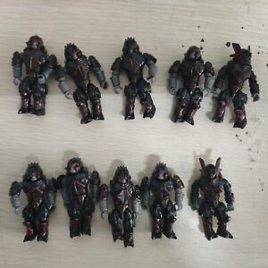 lot of 10pcs HALO MEGA BLOKS CONSTRUX BLACK CRIMSON COVENANT BRUTE Minor Captain