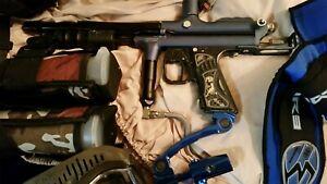 AutoCocker. Paintball Gun Rare! Girl Handle. Prophecy Hopper, Empire Spider LOT!