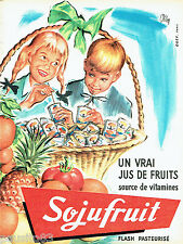 PUBLICITE ADVERTISING 106  1958  Sojufruit   jus de fruits vitamines