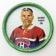 Shirriff Goalie Jacques Plante #58 Montreal Canadiens NHL Hockey Metal Coin A511