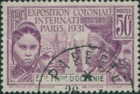 French Oceania 1931 SG80 50c black and mauve Colonial Exhibition FU