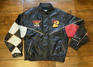 Rusty Wallace #2 Sam Bass Miller Racing Leather Race Jacket Mens X Large NASCAR