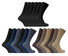 6 Pack Multipack Mens Thin Soft 100% Cotton Rich Black or Brown Dress Socks