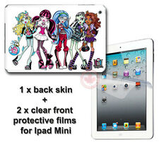 Monster High SKIN STICKER DECAL COVER & 2 front protected films #2 for iPad Mini