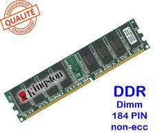 Mémoire 1GO DDR PC3200 400MHZ Kingston KVR400X64C3A/1G 184PIN 1GB memory NO ECC