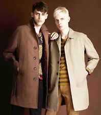 $2,695 RUNWAY Burberry Prorsum 42 52 Men Cotton Linen Trench Coat Father Gift A