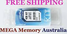 CRUCIAL 4GB KIT 2x2GB DDR3 PC3-8500 LAPTOP Memory @ SYD