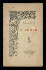 MARTINI FERDINANDO A ZONZO GIANNOTTA 1900 BIBLIOTECA POPOLARE CONTEMPORANEA I ED
