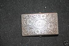 Antique Webster sterling repousse belt buckle Pat.1914
