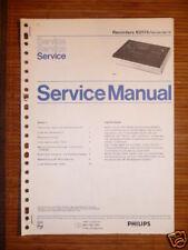 Service Manual Philips N 2515 Cassett Recorder,ORIGINAL