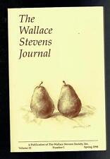 The Wallace Stevens Journal Volume 22 Number 1 Spring 1998 VG