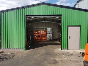 Steel Framed Buildings - Industrial Steel Workshop - 7.5m x 7.5m x 3.2m Unit