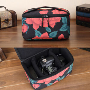 Roses Camera Bag Insert Case Protect Partition For Canon Nikon Sony DSLR Lens