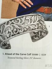 """Silpada Textured  Sterling Silver """"Ahead of the Curve Cuff""""  Bracelet B3080 NEW!"""