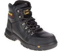 CAT Caterpillar Outline Men's Leather Steel Safety Toe Mid Top Work Shoes