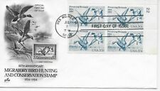 US Scott #2092, First Day Cover 7/2/84 Des Moines Plate Block Bird Hunting