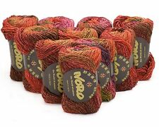 10 x 50g Shades of Reds Noro Silk Garden - sh 84