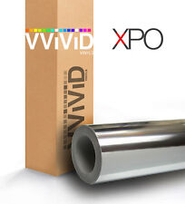 VViViD Silver chrome vinyl car wrap 1ft x 5ft film roll 3mil self-adherent sheet