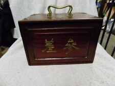 Antique Mahjong Set~Wooden Dove Tail Box~Complete Set~1920'S~Bone/Bamb oo