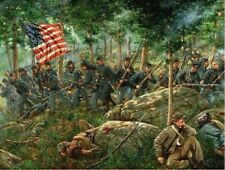 Mark Maritato Signed Civil War Art Print Charge of the 20th Maine Gettysburg