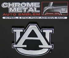 AUBURN TIGERS CHROME METAL AUTO EMBLEM DECAL