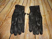 Vintage Men's Black Leather Gloves Size Large